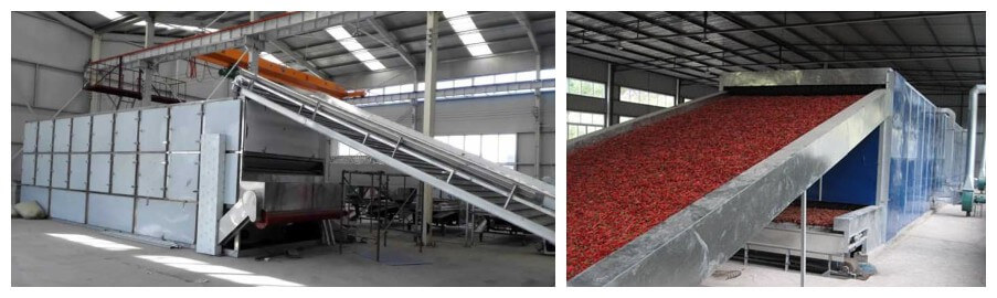 belt food drying machine