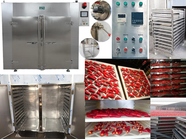 hot air drying chilies by hot air drying machine