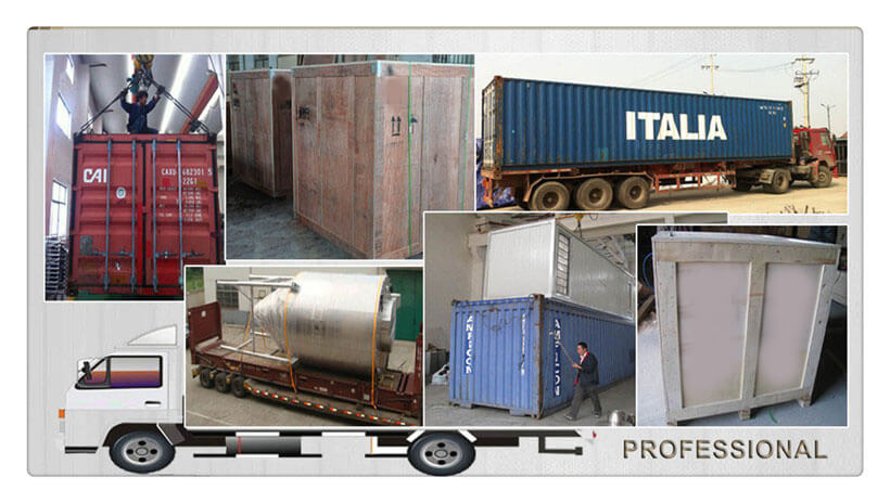 packing and logistics of our belt food drying machine