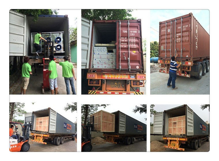 shipping of belt food drying machine for sale to America