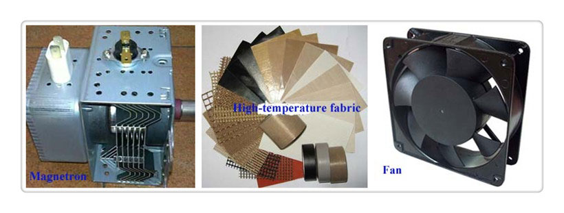spare parts of microwave vegetable drying machine