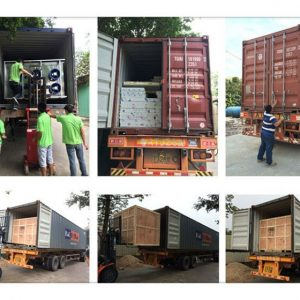 shipping of belt drying machine to America